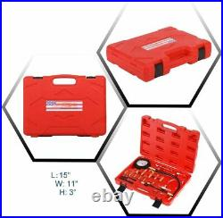 0-140 PSI Petrol & Diesel Fuel Injection Pump Injector Tester Pressure Gauge Kit
