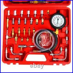 0-140psi Oil Fuel Injection Pump Pressure Tester Gauge Injector Detector Kit NEW