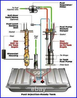 1957 57 Chevy Belair LS EFI Fuel Injection Gas Tank FI Conversion Kit 90 ohm