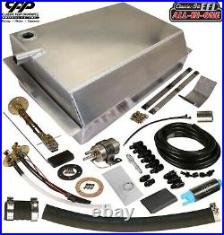 1967-72 Chevy C10 GMC Fuel Injection EFI Aluminum Gas Tank Kit Side Fill 90ohm