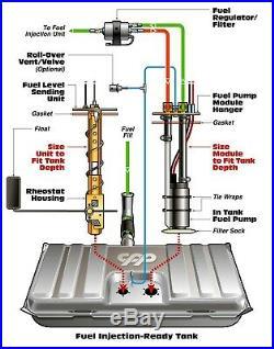 61-64 Chevy Impala LS EFI Fuel Injection Gas Tank FI Conversion Kit 90 ohm