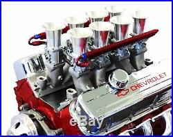 BBC Satin Aluminum EFI Fuel Injection Hilborn Style Down Draft Intake Kit Chevy