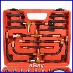 Car Deluxe Manometer Fuel Injection Pressure Tester Gauge Kit system 0-140 PSI