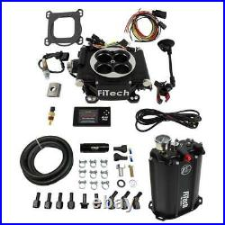 FiTech Fuel Injection Master Kit 35202 Go EFI 4 & Force Fuel 600 HP Black