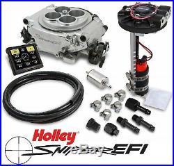 Holley Sniper EFI 550-510D 4BBL Fuel Injection Returnless Master Kit Shiny