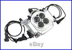 Holley Sniper EFI 550-510K 4 Barrel Fuel Injection Conversion Master Kit Shiny