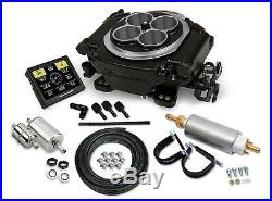 Holley Sniper EFI 550-511K BLACK Ceramic Self Tuning Fuel Injection Master Kit