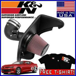 K&N AirCharger Cold Air Intake System Kit fits 2016-2019 Chevy Camaro 2.0L L4