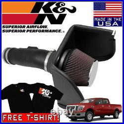 K&N AirCharger FIPK Cold Air Intake System fits 2017 Nissan Titan 5.6L V8