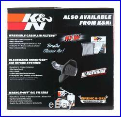 K&N Cold Air Intake System 2009-2013 Chevy Silverado 1500 4.8L 5.3L 6.0L 6.2L V8