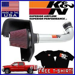 K&N Cold Air Intake System 2010-2013 Silverado 1500 4.8L / 5.3L / 6.0L / 6.2L