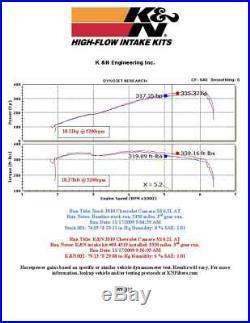 K&N Typhoon FIPK Cold Air Intake System fits 2010-2015 Chevy Camaro SS 6.2L V8