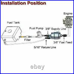 LS Conversion Fuel Filter Regulator Fuel Injection Line Install Kit EFI FI
