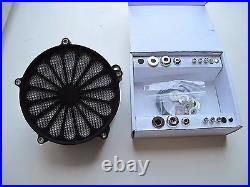 Outlaw Black Ss2 Air Cleaner Filter Kit CV Carb Or Fuel Injection Big Twin
